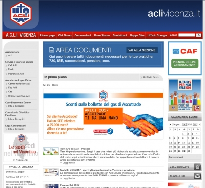 Online il portale www.aclivicenza.it